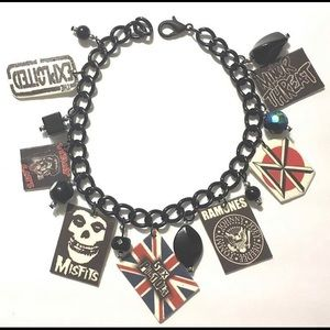Retro Punk Bands Charm Bracelet One of a kind